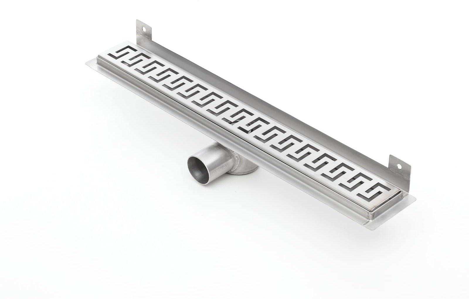 Kesmet Wall Silver Greek odpływ ścienny 1200KWF_p 1200mm (syfon plastikowy)