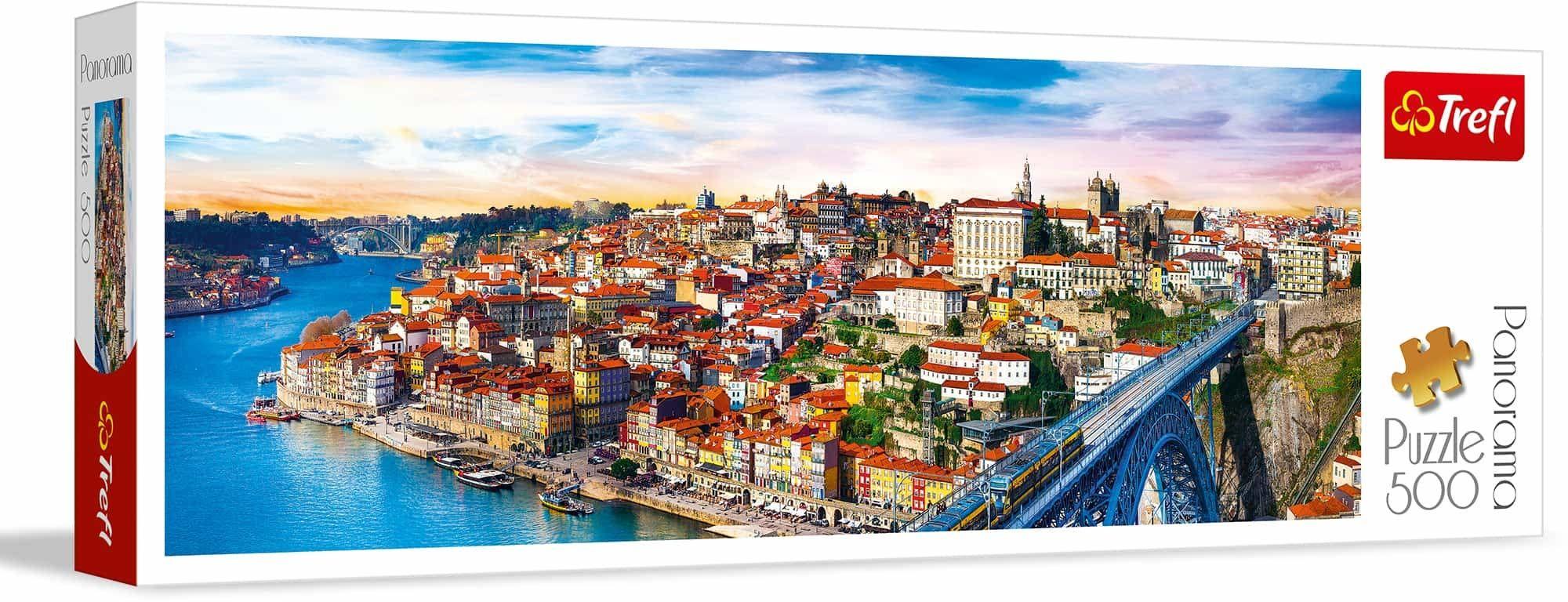 Trefl Porto, Portugalia Puzzle Panoramiczne 500 Elementów o Wysokiej Jakości Nadruku, od 10 lat