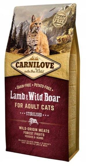 CARNILOVE - Karma dla kotów po sterylizacji jagnięcina i dzik 400g