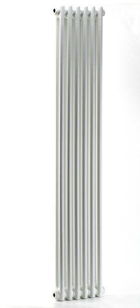 Grzejnik pokojowy retro - 2 kolumnowy, 1500x400, biały/ral - biały