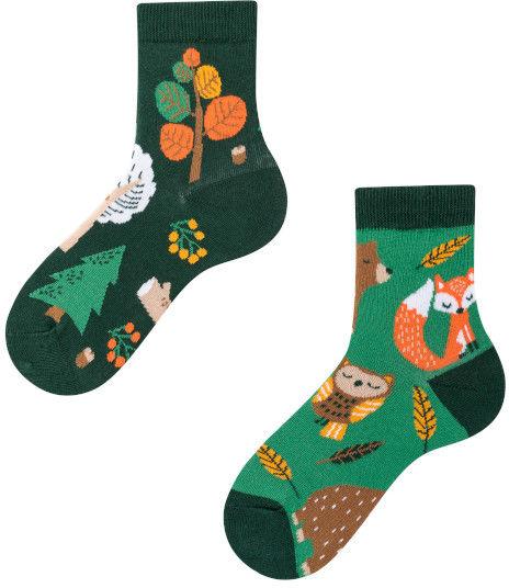 Forest Animals Kids, Todo Socks, Leśne zwierzaki, Kolorowe Skarpetki Dziecięce