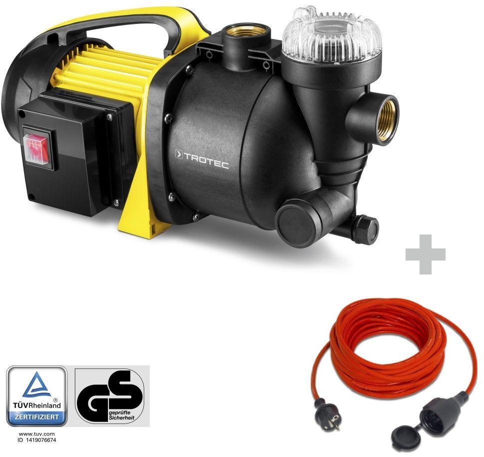 Pompa ogrodowa z filtrem TGP 1005 E + Przedłużacz jakościowy 15 m / 230 V / 1,5 mm