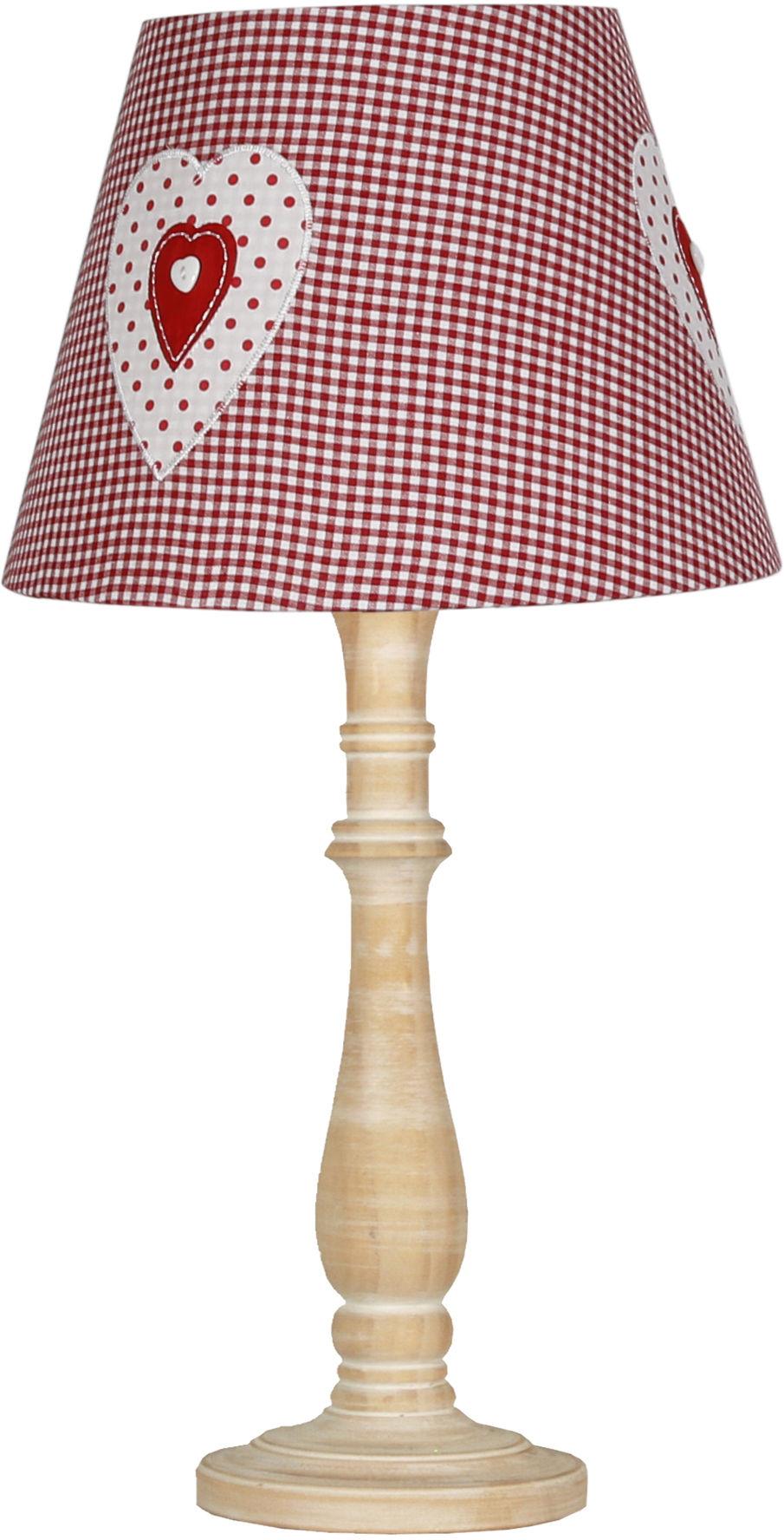 Candellux SWEET 1 41-64196 lampa stołowa abażur romantyczny dekor 1X40W E14 28cm