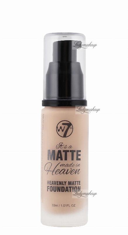 W7 - It''s a Matte made in Heaven - HEAVENLY MATTE FOUNDATION - Matujący podkład do twarzy - FRESH BEIGE