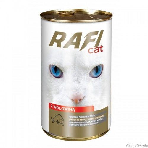 DOLINA NOTECI - RAFI CAT z wołowiną - kawałki mięsne w sosie 415g