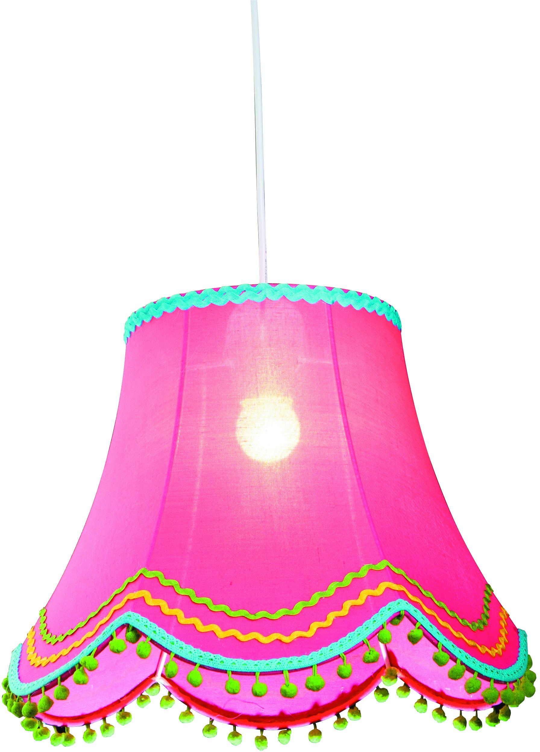 Candellux ARLEKIN 31-94509 lampa wisząca abażur z tkaniny różowy 1X60W E27 35 cm