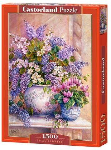 Puzzle Castor 1500 - Kwiaty bzu w wazonie - Lilac Flowers