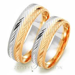 Obrączki ślubne Złoty Skorpion  wzór Au-OE211