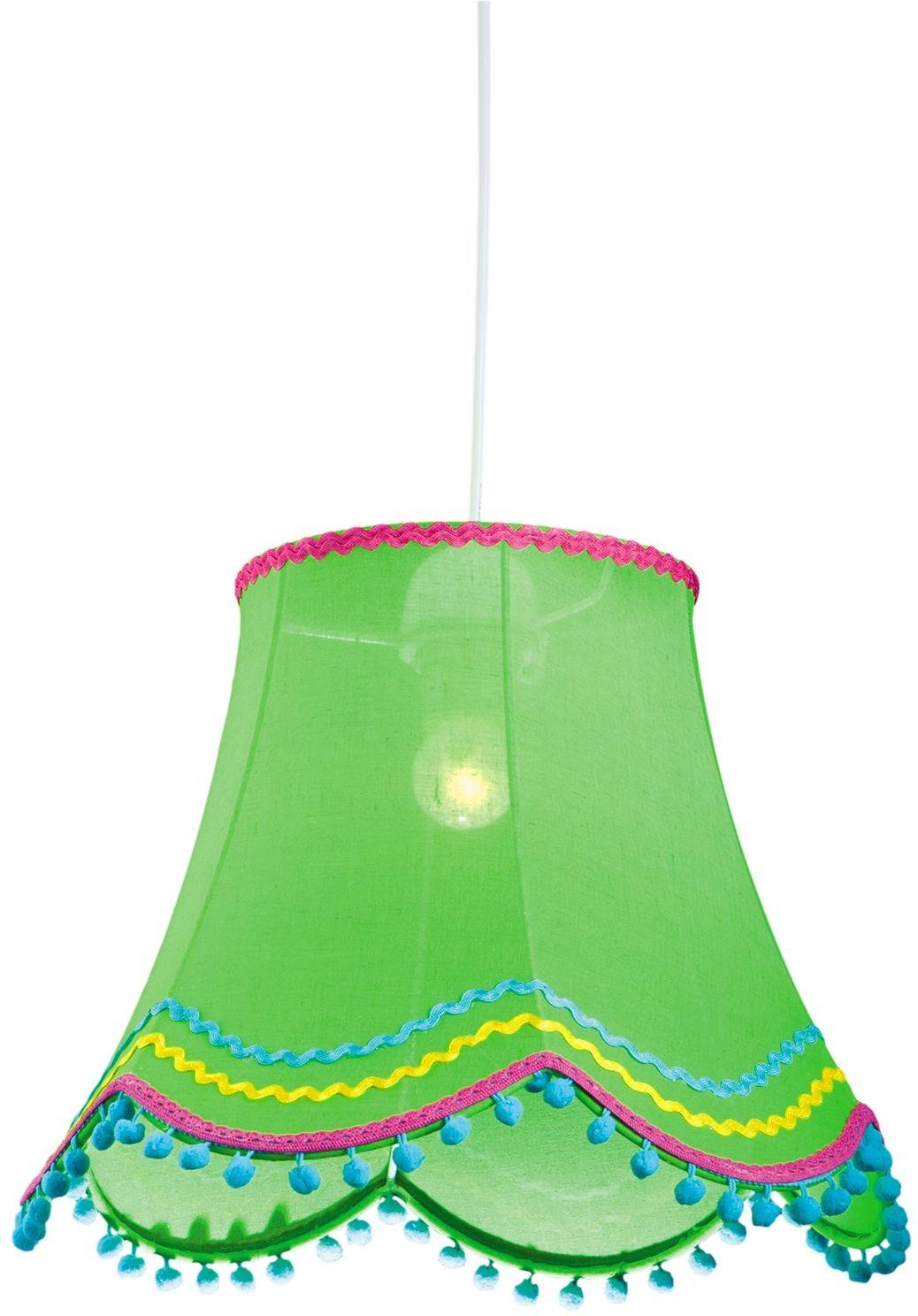 Candellux ARLEKIN 31-94516 lampa wisząca abażur z tkaniny zielonej 1X60W E27 35 cm