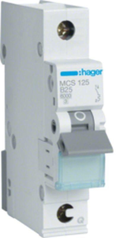 MCB Wyłącznik nadprądowy Icn=6000A 1P C 25A QuickConnect MCS125