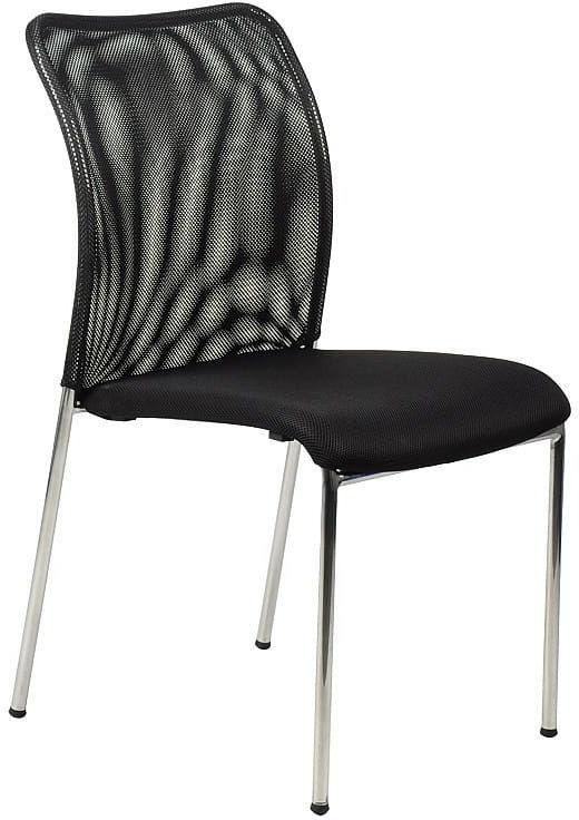 Krzesło konferencyjne HN-7502ch/CZARNY. Stelaż chromowany. Krzesło biurowe