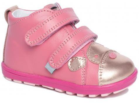 Bartek Baby Mini First Steps 71734 NA-S profilaktyczne trzewiki, półbuty, dla dzieci - różowy