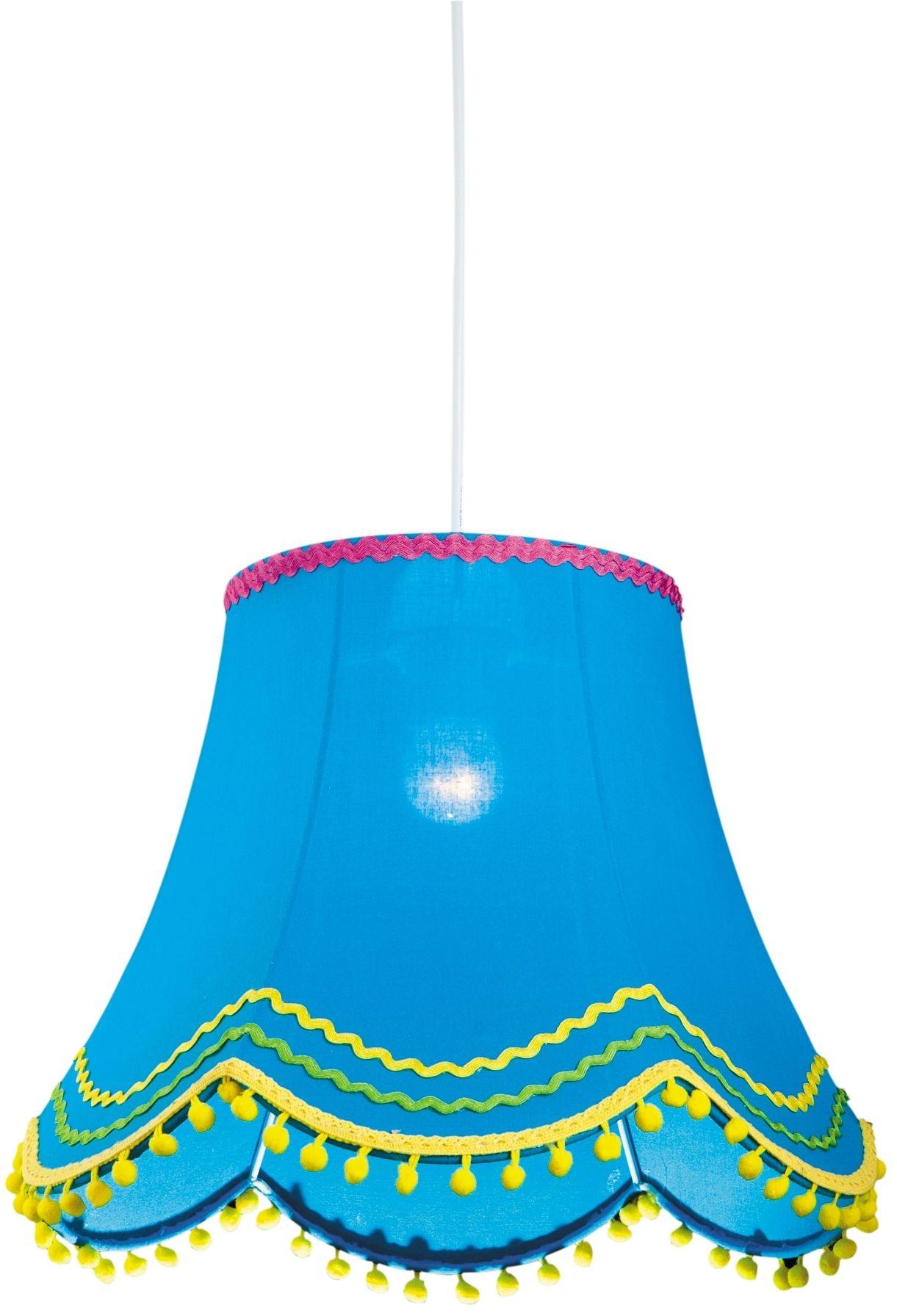 Candellux ARLEKIN 31-94523 lampa wisząca abażur z tkaniny niebieskiej 1X60W E27 35 cm