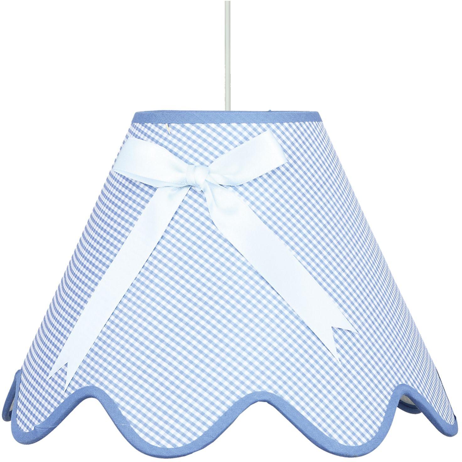 Candellux LOLA 31-04666 lampa wisząca abażur z kokardą niebieski 1X60W E27 40 cm