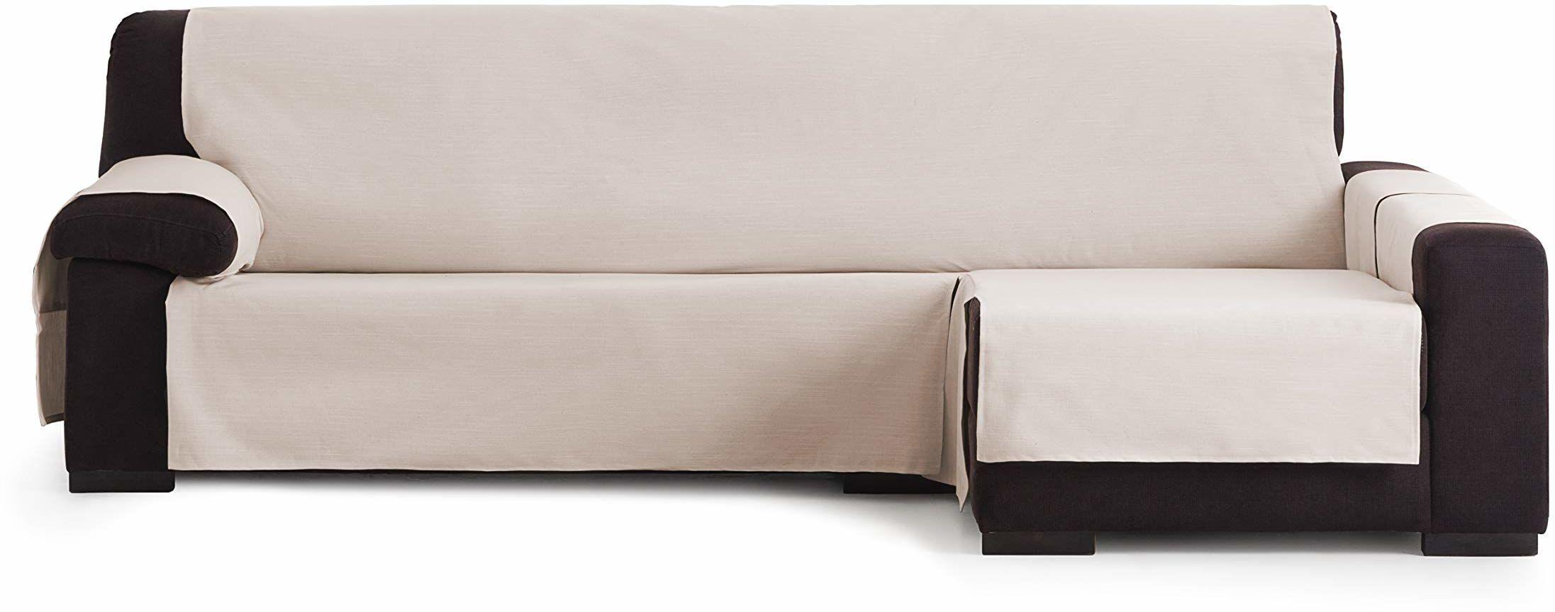 Eysa Garona Protect wodoodporna i oddychająca narzuta na sofę, 90% bawełna, 10% poliester, szara, 290 cm
