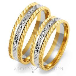 Obrączki ślubne Złoty Skorpion  wzór Au-OE212