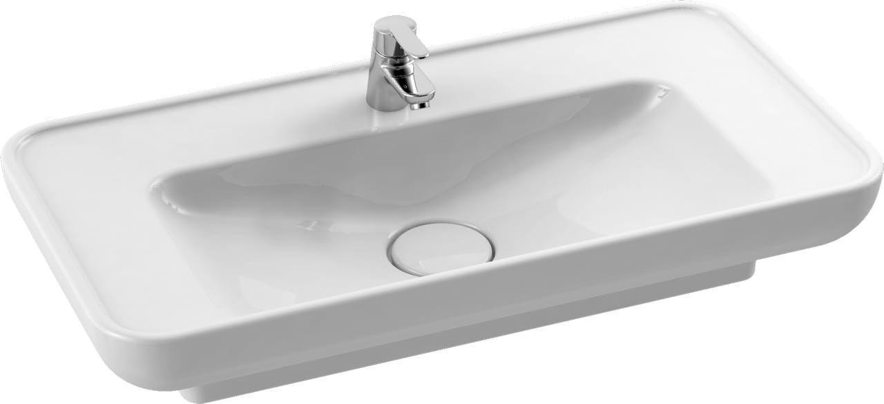 CeraStyle umywalka Lal 80 cm + zaślepka ceramiczna syfonu 072400-u /ZC-0008