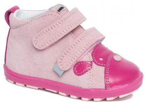 Bartek Baby Mini First Steps 71734 ABFS profilaktyczne trzewiki, półbuty, dla dzieci - róż, cyklamen