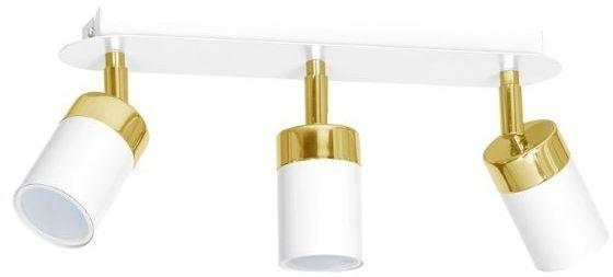 Lampa sufitowa spot JOKER WHITE/GOLD biało złoty 3xGU10