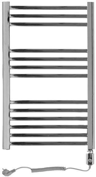 Grzejnik łazienkowy wetherby - elektryczny, wykończenie proste, 500x800, chromowany