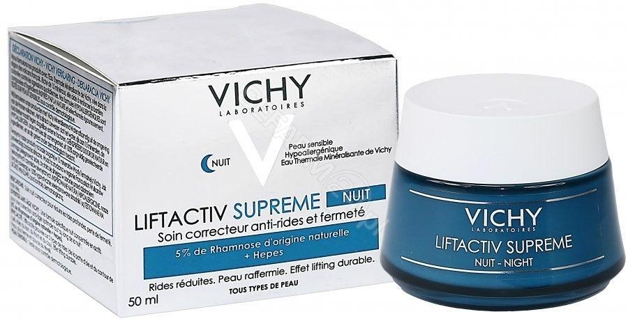 Vichy Liftactiv Supreme ujędrniająco - przeciwzmarszczkowy krem na noc z efektem liftingującym 50 ml