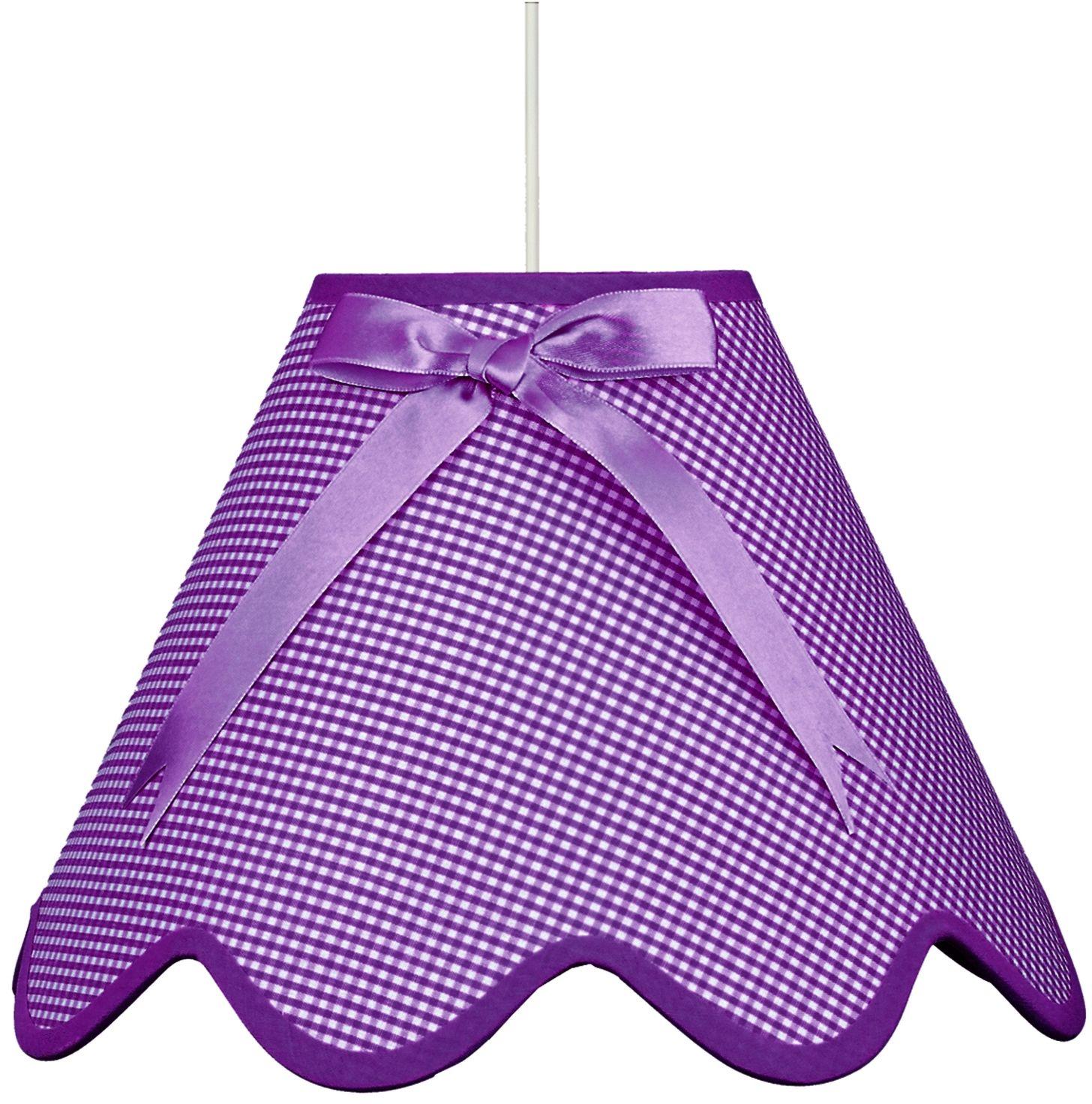 Candellux LOLA 31-14573 lampa wisząca fiolet abażur z kokardą 1X60W E27 40 cm