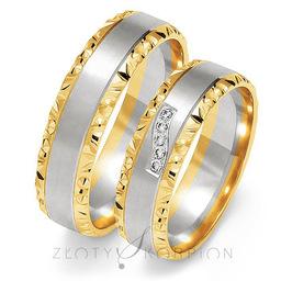 Obrączki ślubne Złoty Skorpion  wzór Au-OE213