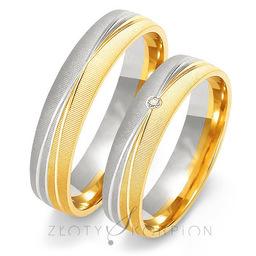Obrączki ślubne Złoty Skorpion  wzór Au-OE214