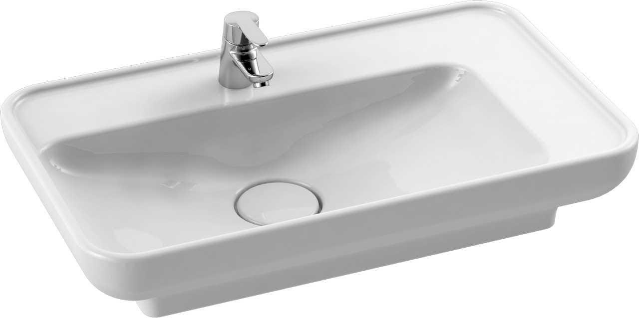CeraStyle umywalka Lal, 70 cm + zaślepka ceramiczna syfonu 072300-u /ZC-0008