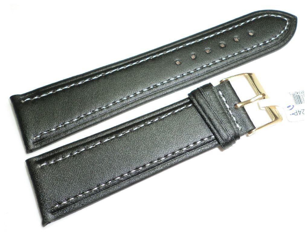 Skórzany pasek do zegarka 24 mm JVD R14201-24P-G