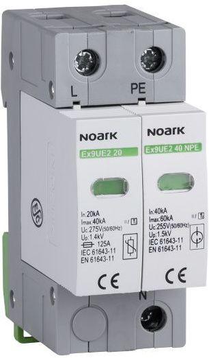 Ogranicznik przepięć, typ II, 275 V AC, 20 kA, wymienna wkładka, 1-biegun + N/PE 20 1PN 275 Noark