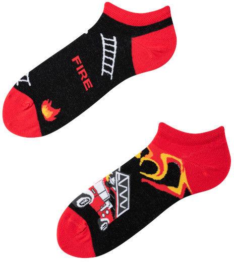 Stopki, Socks on Fire Low, Todo Socks, Strażak, Ogień, Kolorowe