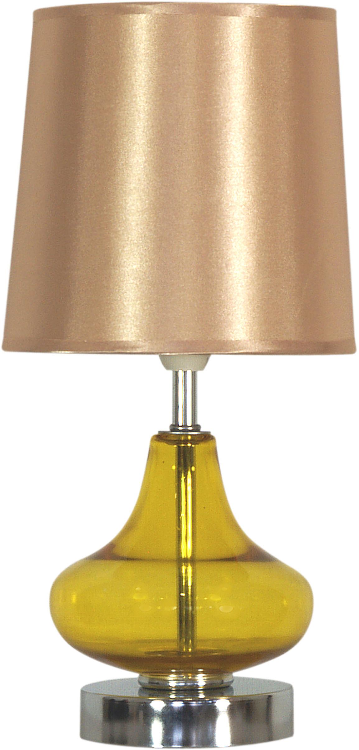 Candellux ALLADINA 41-10933 lampa stołowa abażur bursztynowy 1X40W E14 17cm