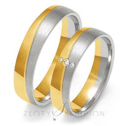 Obrączki ślubne Złoty Skorpion  wzór Au-OE215