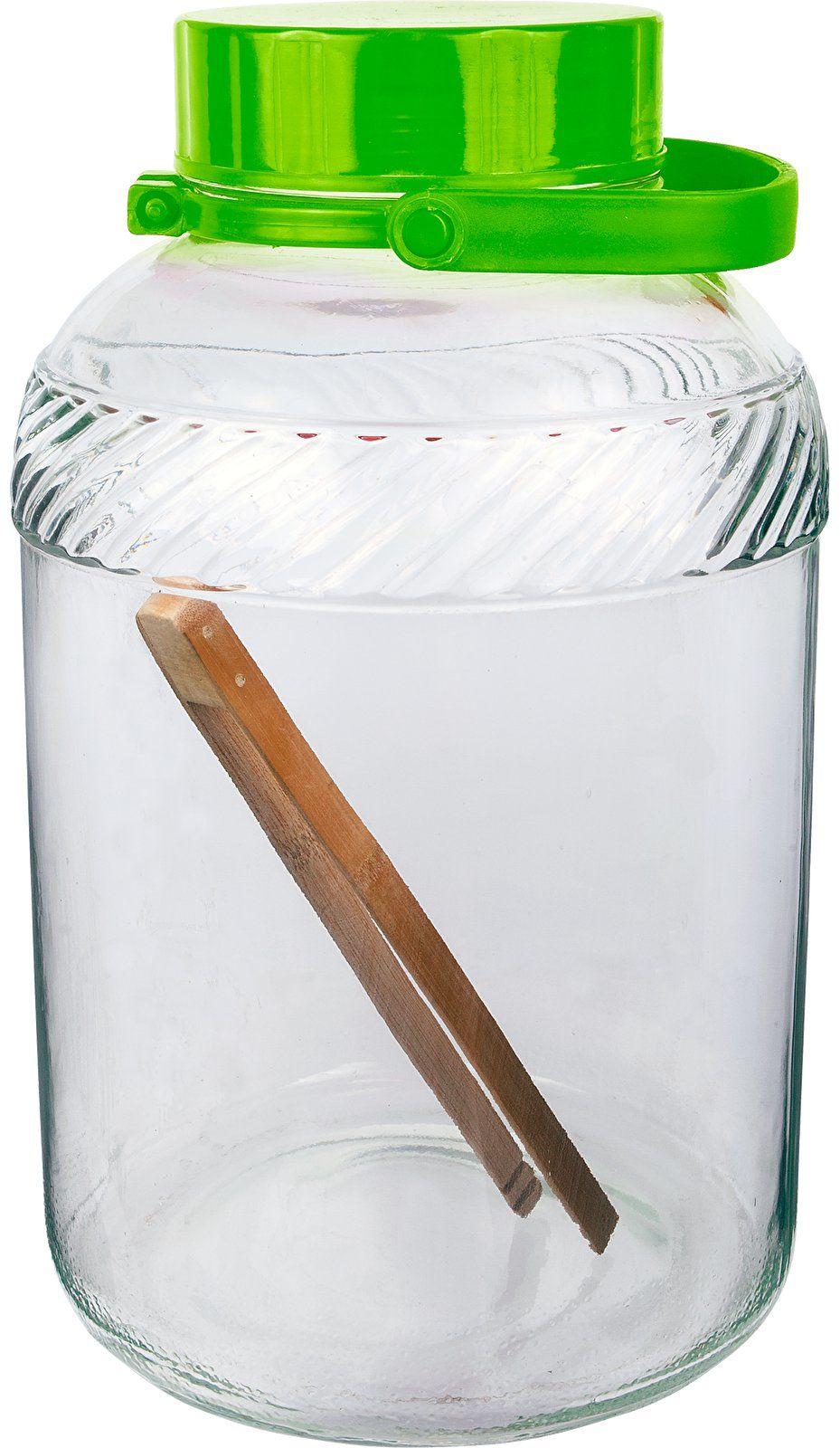 Słoik szklany 8 L, ze szczypcami