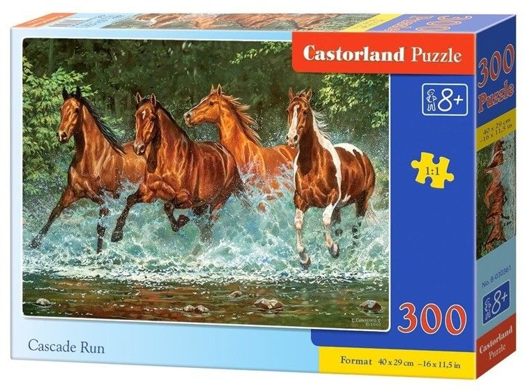 Puzzle Castor 300 - Biegnące konie, Cascade Run