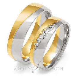 Obrączki ślubne Złoty Skorpion  wzór Au-OE216