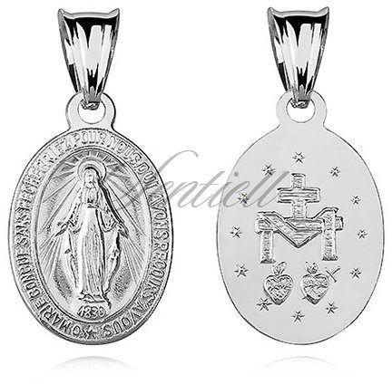 Srebrny medalik pr.925 cudowna matka boska