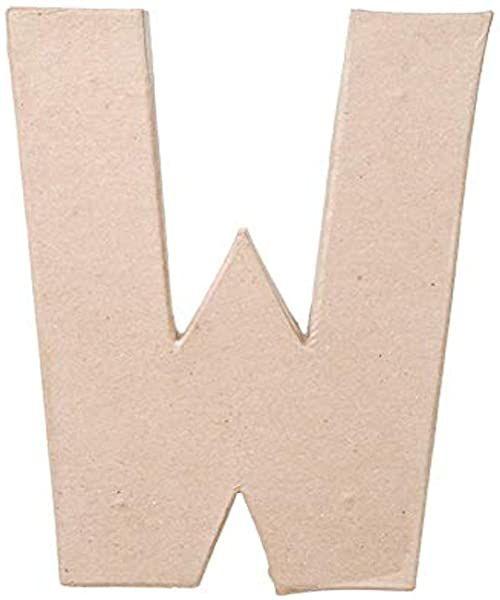 Litera W z masy papierowej, 20,3 x 14 cm