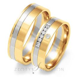 Obrączki ślubne Złoty Skorpion  wzór Au-OE217