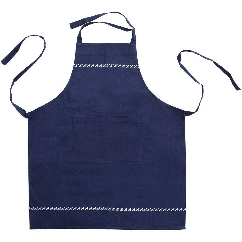 Fartuch fartuszek kuchenny MODROTISK niebieski ochronny bawełniany