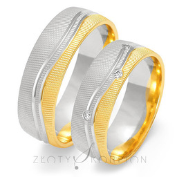 Obrączki ślubne Złoty Skorpion  wzór Au-OE218