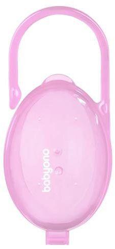 Babyono pojemnik na smoczek różowy 1 sztuka [528/04]