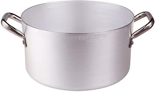 Pentole Agnelli Rondel z aluminium z 2 uchwytami, stal nierdzewna 24 cm
