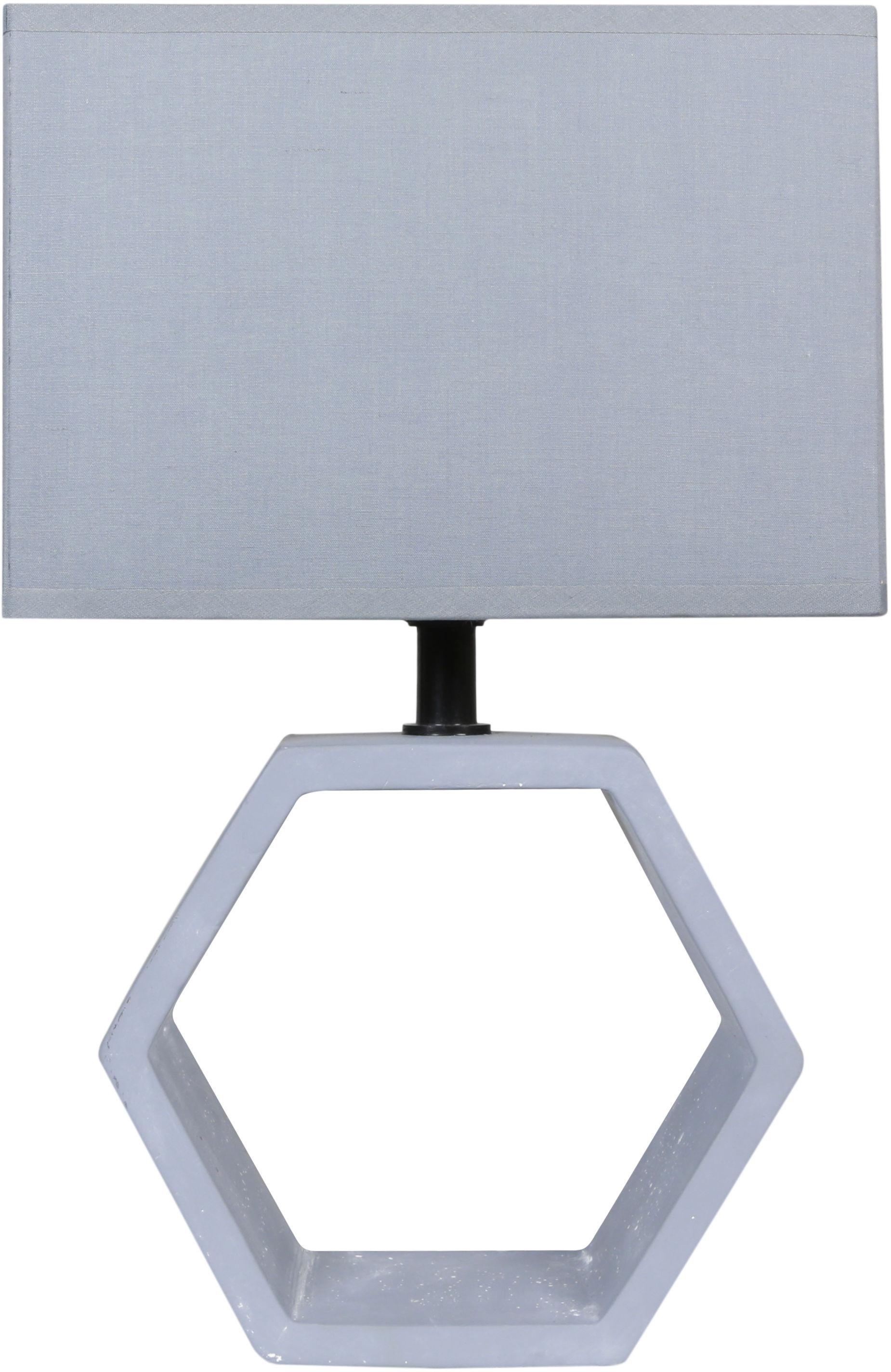Candellux VIDAL 41-68552 lampa stołowa abażur grafitowy 1X40W E27 masa gipsowa 35cm