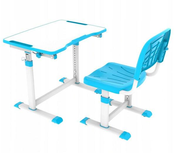 Regulowane biurko z krzesełkiem Olea Blue FunDesk