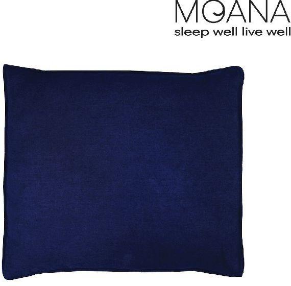 Poszewka na poduszkę lniana MOANA Basic, Rozmiar - 50x70, Kolor - navy blue NAJLEPSZA CENA, DARMOWA DOSTAWA