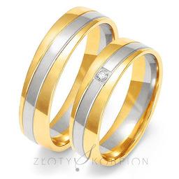 Obrączki ślubne Złoty Skorpion  wzór Au-OE219