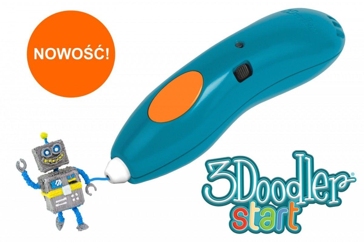 3DOODLER START ESSENTIAL PACK - Długopis 3D zaprojektowany dla dzieci (zestaw podstawowy)