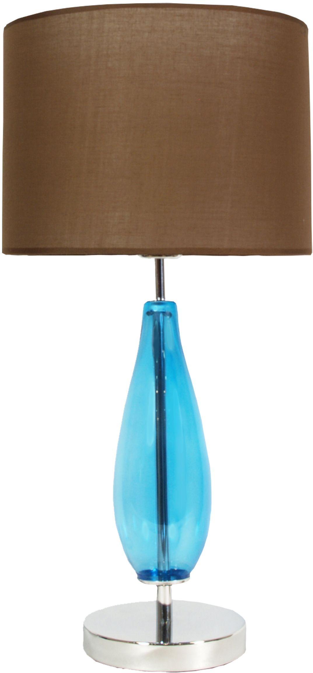 Candellux MARRONE lampa stołowa abażur walec brązowa 1X60W E27 H-57 30 cm